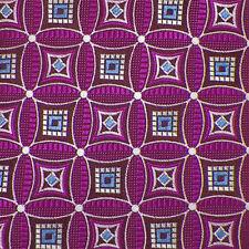 JOHN W. NORDSTROM Magenta Silver Blue GEOMETRIC Woven Silk Tie NWT