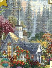Cross Stitch Kit ~ Thomas Kinkade The Forest Chapel In Spring #51633
