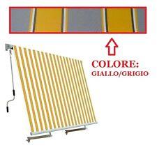 TENDA DA SOLE A CADUTA con braccetti per ringhiera 100 x h. 250 cm GIALLO GRIGIO