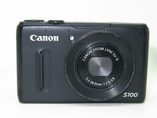 Canon PowerShot S100 12.1MP Digital Camera - Black +8gb