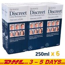 250ml x 6, Restoria Discreet Hair Colour Restoring Cream Gradually Care Styling