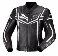 IXS Sting Leather Sport Mens Motorcycle Jacket - Black White