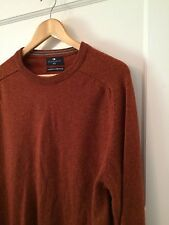 MENS M&S Harbour Extrafine Lambswool Jumper Size Medium Rusty Red Brown