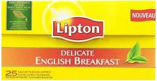 Lipton Delicate English Breakfast Tea Bags 25 Supplied  Free UK Delivery (061)