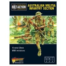 Bolt Action WWII Australian Militia Infantry Section metal Warlord Games