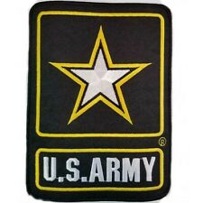 """United States Army Embroidered Iron On Sewn Patch 5"""" Gold Star Black FAST SHIP"""