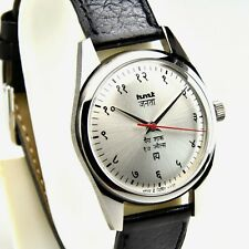 HMT Janata Devanagari Silver 17 Jewels Para Shock Hand Winding Watch