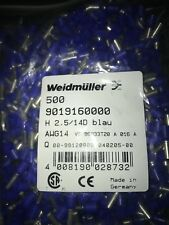500pc Pkg 9019160000 Weidmuller Ferrules Terminal 14awg 14mm 47mm Rohs