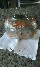 Antique Pandan Box Silver Oval Lotus Floral Hammered Design Copper Accents Asian