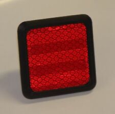 "Safety Red Reflective Trailer Hitch Cover For 1.25"" Hitch Receiver 1 1/4"""