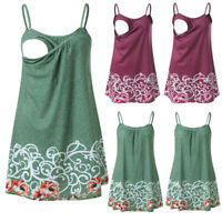 Women Pregnancy Floral Vest Nursing Maternity Sleeveless Blouse Tank Top T Shirt