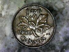1950 KING GEORGE VI CANADA SMALL CENT---BRONZE COMPOSITION COIN---KM# 41