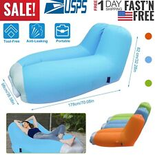 Inflatable Lounger Air Sofa Chair Camping Sleeping Bag Hiking Lazy Lounge Bed US