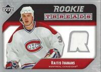 2005-06 Upper Deck Rookie Threads #RTRI Raitis Ivanans Jersey - NM-MT
