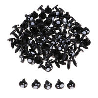Black Plastic Safety Eyes for Teddy Bear Animal Puppet DIY Craft 10MM (100Pcs)