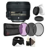 Nikon AF-S NIKKOR 50mm f/1.8G Lens with Accessory Bundle For Nikon DSLR Cameras