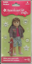 American Girl Crafts - July Skateboard Bubble Stickers 6 Pieces