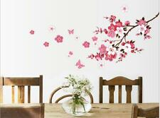 X/large Pink Peach Blossom Flowers Tree Branch Art Decal Nursery Wall Stickers