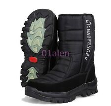 HOT Mens Outdoor Snow Casual Waterproof Thicken Fur Warm Winter Mid Calf Boots