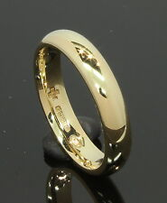 18 Carat Yellow Gold Plain Court Wedding Ring 3.7mm Size L 18CT (80.18.022)
