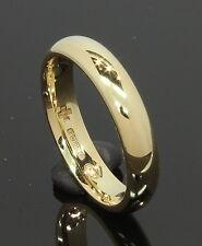 18 Carat Yellow Gold Plain Court Wedding Ring 3.7mm Size L (80.18.022)