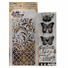 TIM HOLTZ Mixed media stamp & stencil WATER COLOR THMM103 for stamping