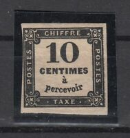 AG4953/ FRANCE – POSTAGE DUE - Y&T # T2A MINT MH CERTIFICATE - CV 875 $