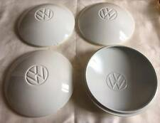 VW BUG Wheel Hub Caps Center Cover 4pcs White TYPE2 BEETLE CLASSIC 5 lugs Cap