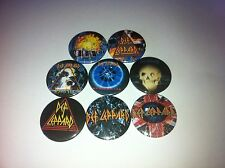 8 Def Leppard pin button badges 25mm Love Bites Our Song Hysteria Motley Crue