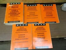 2000 CHRYSLER TOWN & COUNTRY, CARAVAN AND VOYAGER FACTORY SERVICE MANUAL SET