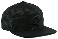 Timberland All Black Camouflage Snapback Adjustable Hat Cap NWT