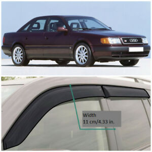 AE10890 Window Visors Vent Wide Deflectors For Audi 100 Sd 4A,C4 1990-1994