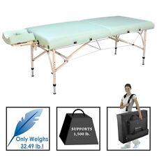 "Master 30"" Bel Air Lily Green Light Aluminum Portable Massage Table"