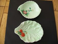 Two Small Carlton Ware Leaf Dishes - Australian Design