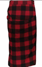 Marni Red & Black Wool Checked Pencil Skirt Size 38  UK Size 6 BNWT