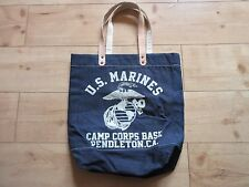 US Army Marines USMC Marine Camp Corps Base Pendleton Denim Bag Lutece MFG WK2