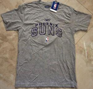 Phoenix Suns Embroidered Logos T-shirt Adult Small Gray Reebok NBA