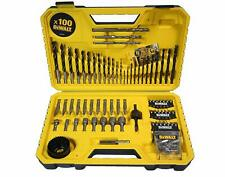 DeWALT Drill Bit Set 100 Piece Combination Screwdriver Bits Masonry Wood Metal