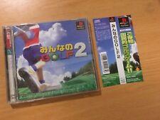 FREE SHIPPING SONY PS PLAYSTATION  JAPAN NTSC MINNA NO GOLF 2