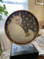 Cat Lovers Collectible Decorative Plate White Persian Cat