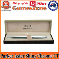PARKER ASTER STEEL SHINY CHROME CT BALL PEN - FREE POSTAGE