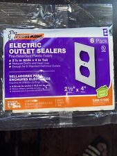 """Frost King Electric Outlet Sealers Fire Retardant Plastic Foam, 2-1/2"""" x 4"""" Os6"""
