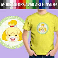 Animal Crossing Isabelle Approved Pocket Camp Dog Toddler Kids Tee Youth T-Shirt