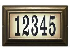 Edgewood, Ltl-1301-Fb, Large lighted address sign in French Bronze