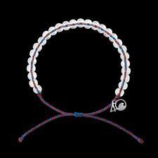 4Ocean Bracelet Seahorse Burgundy/Green cord Glass bead Free Shipping!