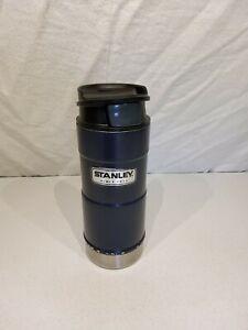 Stanley 12 Oz One Handed Travel Mug. Blue