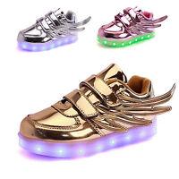 Chaussure Basket LED Enfant Garçon Fille Scratch 7 Lumières Couleurs USB Charge