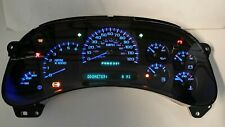 5I) 03-04 2003 REMAN 2500 GAS CHEVY TRUCK SUBURBAN BLUE LED REPLACEMENT CLUSTER
