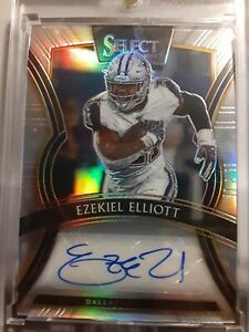 2019 Panini Select Signatures /15 Ezekiel Elliott #SP-EE Auto