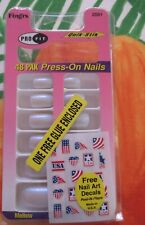 FING'RS*2*MELLOW*PRO FIT 48 PAK PRESS-ON NAILS*QUICK-STIK*NEW*OF OLD STOCK